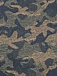 Cool Black/Olive/Tan 100% Wool Camouflage-Look Jacquard Jacket-Weight Woven - NY Designer - 48W