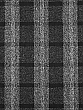 Black/White 100% Polyester Plaid Crepe Jacquard Woven - Imported From Italy - 59W
