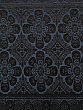 Rainstorm Blue/Black 100% Polyester Large Floral Medallion Chenille Jacquard Suiting - NY Designer - 56W