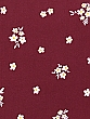 Claret/White/Amber 100% Cotton Ditsy Floral Brushed Twill Shirt Weight Woven 56W