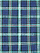 Lapis Blue/Aqua/Coral/White 100% Linen Plaid Shirt Weight Linen - European Linen - 58W