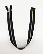 "20"" Black/Gold Closed-end Metal Zipper - Milly - Qty of 5"