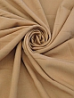 Pecan Tan Polyester/Rayon/Lycra Twill Weave Suiting - Famous Dress Designer - 58W