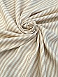 Pale Cream/Tan Viscose/Wool Striped Crepe Suiting - Imported From Italy - 59W
