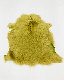 Green Ochre Fur Leather Skin - J. Crew