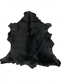 Jet Black Fur Leather Skin - J. Crew