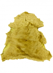 Golden Yellow Fur Leather Skin - J. Crew