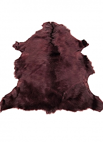 Merlot Fur Leather Skin - J. Crew
