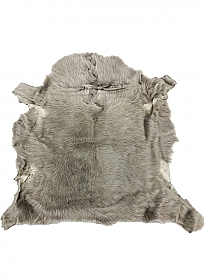 Silver Taupe Gray Fur Leather Skin - J. Crew