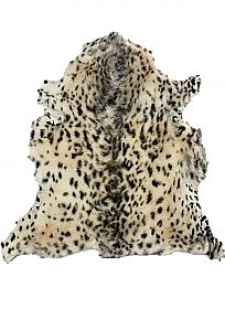 Natural/Dark Brown Animal Print Fur Leather Skin - J. Crew
