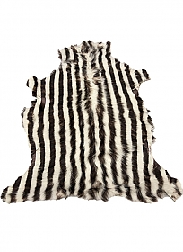 Natural/Dark Brown Vertical Stripe Print Fur Leather Skin - J. Crew