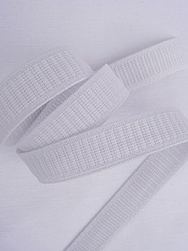 "1"" wide - White Stretchrite Elastic Non Roll"