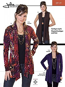 Jalie Patterns - Pleated Cardigan & Vest #2919 - Women/Girls Sizes
