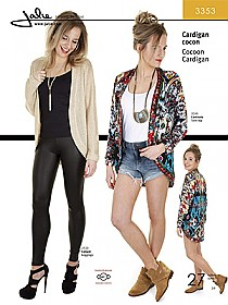 Jalie Patterns - Cocoon Cardigan #3353 - Women/Girls Sizes