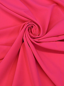 Neon Pink Polyester/Lycra Cady Stretch Suiting - NY Designer - 60W