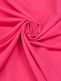 Highlighter Pink Polyester/Lycra Cady Stretch Suiting - NY Designer - 60W