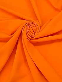 Neon Orange Polyester/Lycra Cady Stretch Suiting - NY Designer - 60W