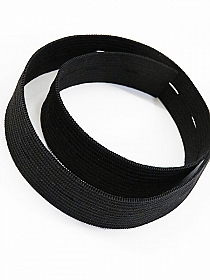 "Black 3/4"" Buttonhole Elastic - Milly"