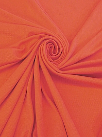 Coral Orange Polyester/Lycra Liverpool Double Knit 60W