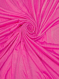 Brilliant Rose Pink Polyester/Rayon Slubbed Tissue Jersey Knit 58W