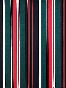 Dark Teal/Crimson/White/Black Polyester/Lycra Vertical Stripe Double Brushed Jersey Knit 58W