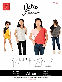 Jalie Patterns - Alice V Neck Blouse #3904 - Women/Girls Sizes