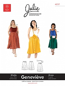 Jalie Patterns - Genevieve Pull-on Gathered Skirt #4017 - Women/Girls Sizes