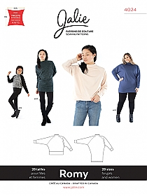 Jalie Patterns - Romy Sweater and Tunic #4024 - Women/Girls Sizes