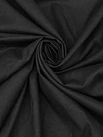 Soft Black Linen/Rayon/Lycra Shirt Weight Woven 46W