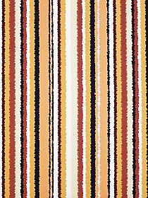 Redwood/Mellow Apricot/Black/White Polyester/Lycra Vertical Distorted Stripe Print Double Brushed Jersey Knit 59W
