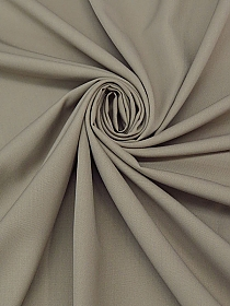 Taupe Polyester/Wool Gabardine Suiting 62W