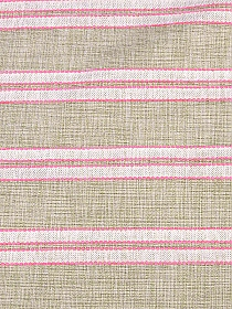 Beige/Off-White/Neon Pink Polyester/Cotton/Acrylic Novelty Stripe Linen-Look Suiting - High-End Designer Label - 57W