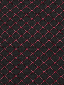 Black/Dark Red Polyester/Lycra Quilted-Look Double Knit 60W