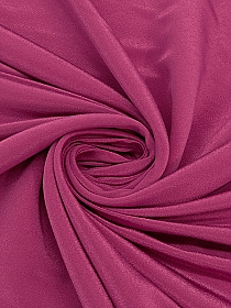 Deep Fuschia 100% Nylon Fine Faille - Couture NYC Designer - 48W