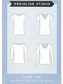 Grainline Studio Patterns - Lark Tee #11006 - Sizes 0-18
