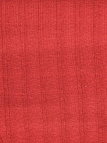 Red 100% Cotton Vertical Raised Stripe 1x1 Tubular Rib Knit - Made in USA - 24W