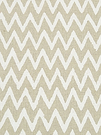 Soft Oat/Off-White Linen/Cotton Chevron Print Mid-Weight Woven - NY Designer - 44W