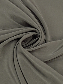 Deep Taupe 100% Silk Crepe de Chine - Couture NYC Designer - 46W
