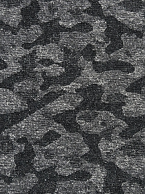 Soft Black/Graphite/White Polyester/Wool Camouflage-Look Design Jacquard Suiting - NY Designer - 46W