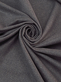 Light Gray/Dark Graphite 100% Cotton Brushed Herringbone Jacket Weight Woven - NY Designer - 65W