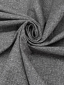 Heathered Gray/Black 100% Cotton Herringbone Tweed Suiting 46W