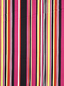 Off-White/Yellow/Black/Fuchsia/Flame Polyester/Lycra Vertical Stripe DTY Knit 62W