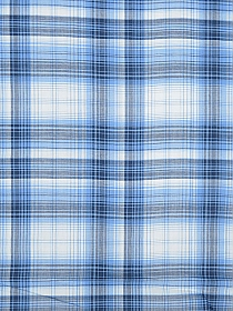 Soft Cornflower/White/Soft Black 100% Cotton Plaid Yarn-Dyed Shirting 58W