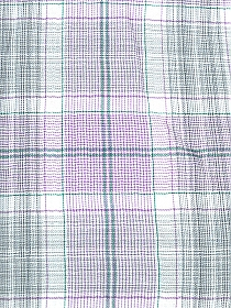 Soft White/Lilac/Fossil Gray/Green Cotton/Polyester Plaid Yarn-Dyed Twill Voile 56W