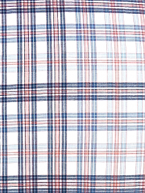 Navy/Peach/White 100% Cotton Plaid Yarn-Dyed Voile 58W