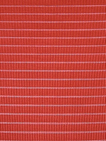 Vibrant Coral Polyester/Lycra Ribbed Sheer Stripe Knit 47W