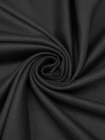 Black Wool/Nylon Melton Coating - Couture NYC Designer - 58W