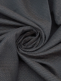 Black/Copper Polyester/Acrylic/Wool/Viscose/Metallic Ottoman Suiting - Couture NYC Designer - 58W