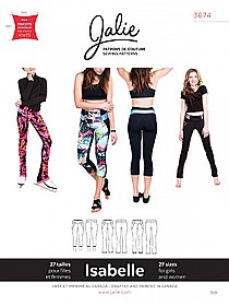 Jalie Patterns - Isabelle Leggings and Skating Pants #3674 - Women/Girls Sizes