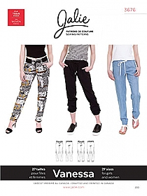 Jalie Patterns - Vanessa Fluid Pants #3676 - Women/Girls Sizes
